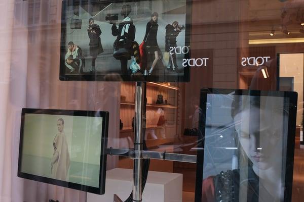 Window store digital signage