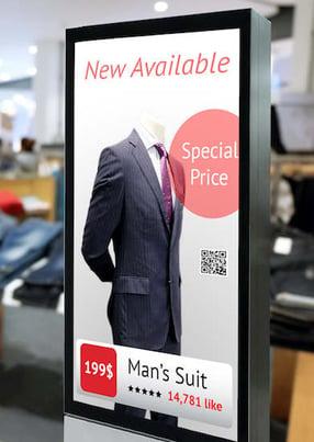 Promotion sur un écran d'affichage dynamique