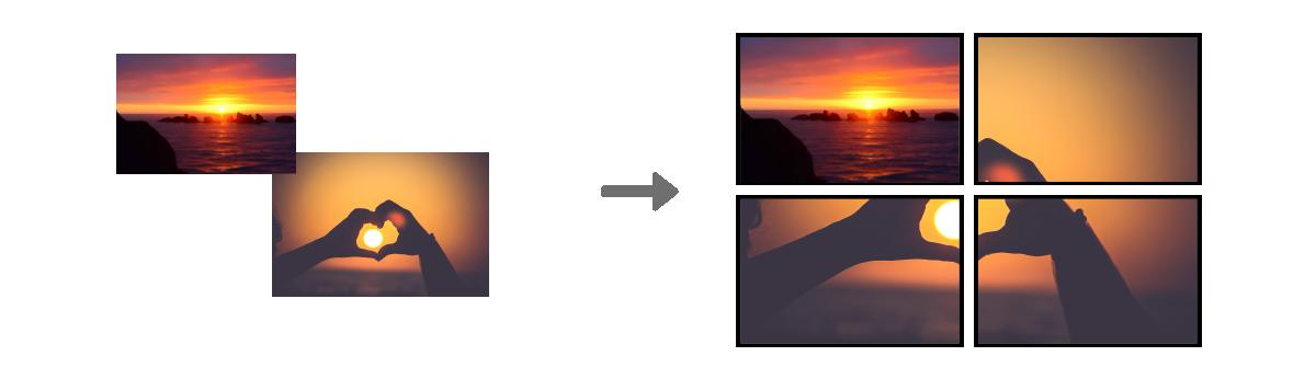 Synchronysation multi-voies d'écran dynamiques